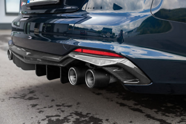 audi rs5 f5 ece valved exhaust with mid pipes and carbon tips e2p