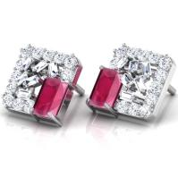 Glitter Sow Stud Earrings Jewellery India Online