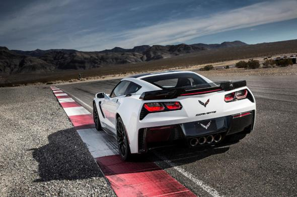 2014-2019 Chevrolet Corvette Stingray Coupe Rear Angle View