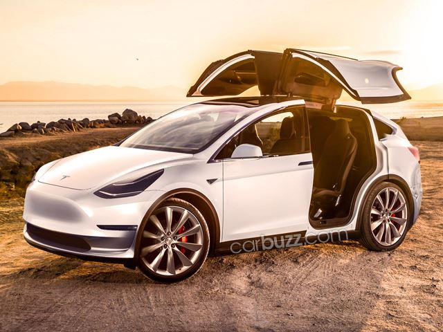 The Tesla Model Y Could Be Unveiled This Week And It Might Look Like This Carbuzz