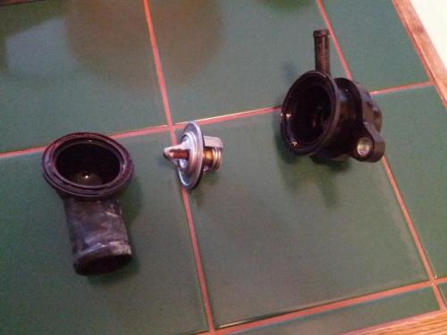 small resolution of  thermostat housing broke engine overheated