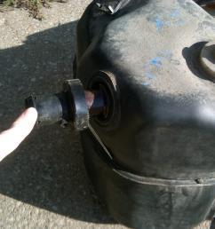 leaking gas cracked gas tank filler neck [ 1024 x 768 Pixel ]
