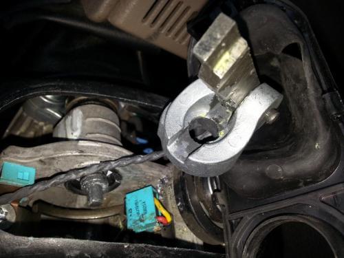 small resolution of steering column broke in half