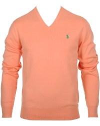 Polo Ralph Lauren Pima Cotton V-Neck Soft Mango hos ...
