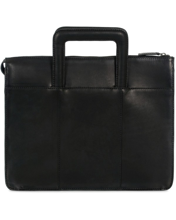 Oscar Jacobson Leather Breifolio Black Hos