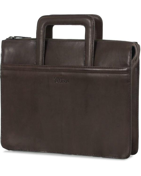 Oscar Jacobson Leather Breifolio Dark Brown Hos