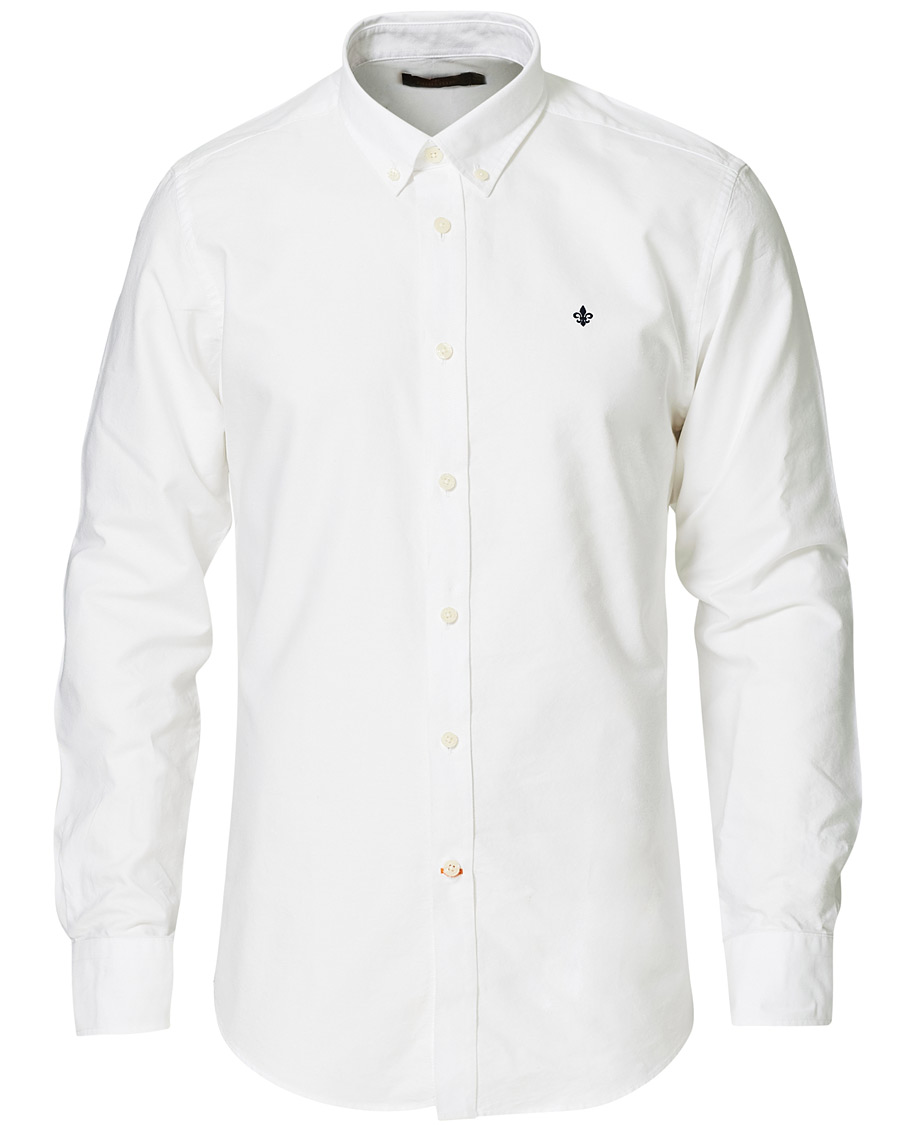 Morris Oxford Button Down Cotton Shirt White hos CareOfCarl.no