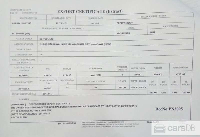 Mitsubishi Fuso Canter 2007 (#607908) for sale in Kamaryut