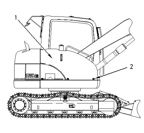 308C CR Excavator Hydraulic System