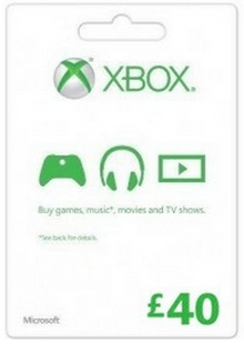 Microsoft Gift Card - £40 (Xbox One/360) cheap key to download