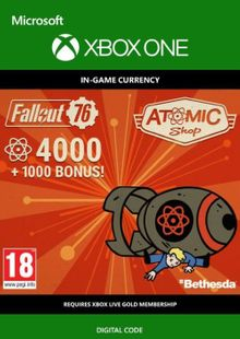 Fallout 76 - 5000 Atoms Xbox One cheap key to download