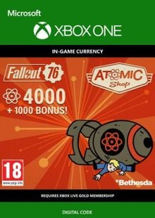 Fallout 76 - 5000 Atoms Xbox One cheap key to download