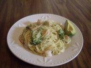 angel hair pasta with garlic shrimp