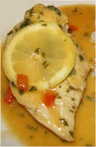 Chicken in Savory Lemon Sauce Recipe  CDKitchencom