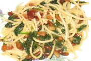 angel hair pasta with spinach recipe