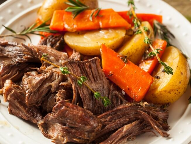 Image Result For Roast In Crock Pot Recipe With Potatoes And Carrots