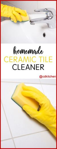 Homemade Ceramic Tile Cleaner | Tile Design Ideas