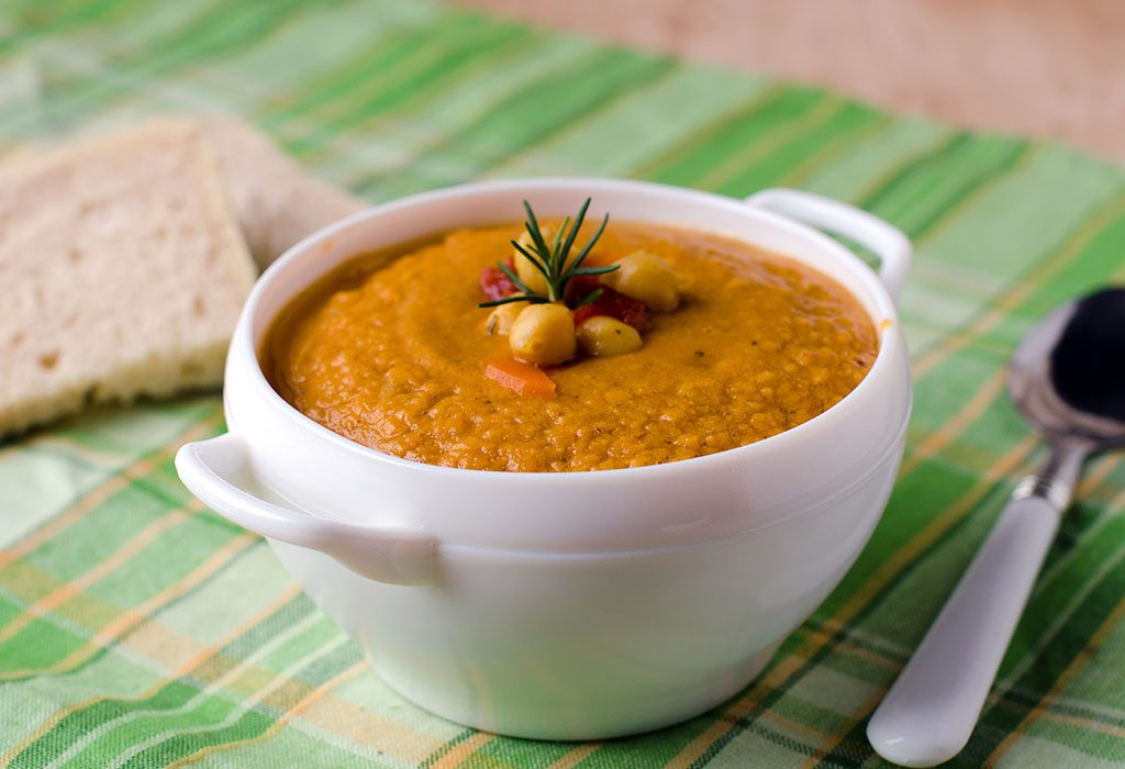 Chickpeas and Vegetables Puree