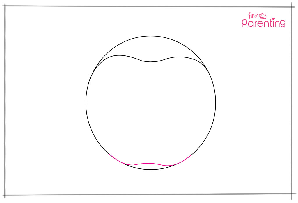Draw a Wave in the Bottom of the Circle