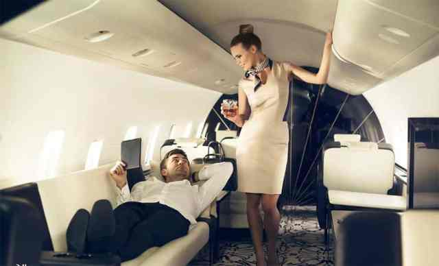 Image result for enjoying a private jet with wine and champagne