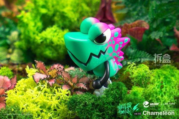 WAZZUPfamily × LAMTOYS合作 WAZZUPbaby Chameleon變色龍 第二波 - 拆盒網