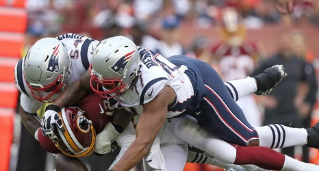 The Patriots defense dominated the Redskins offense all game.