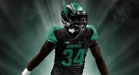 Michigan State Football Check out this slick allblack
