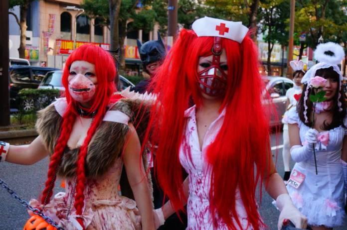 Celebración de Halloween en la ciudad de Kawasaki (Foto: Hideya Hamano)