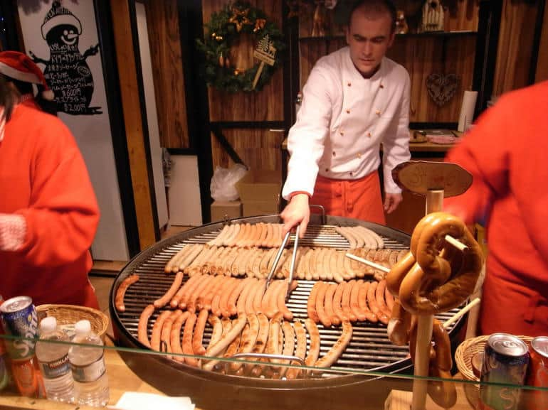 Christmas sausage