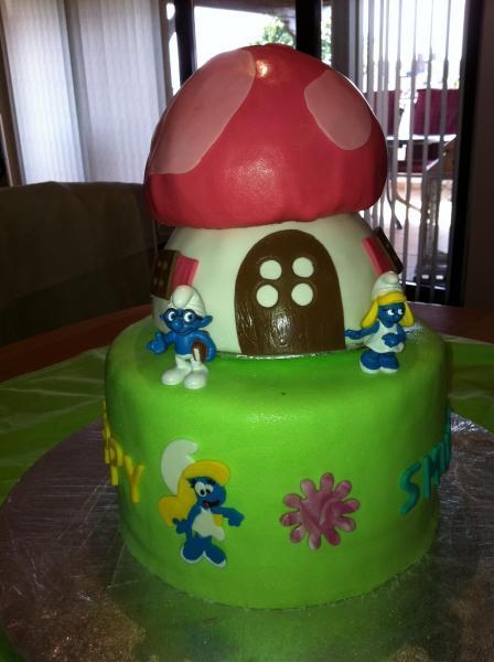 Eine total verschlumpfte Torte  Torte zum 40