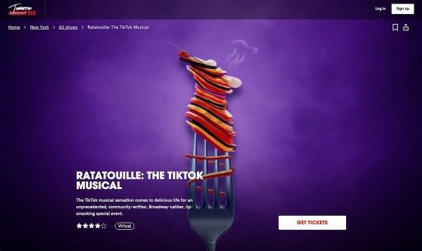 Ratatouille: la comédie musicale TikTok