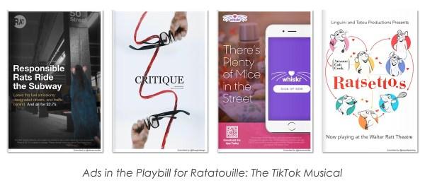 Ratatouille: The TikTok Musical Playbill Annonces