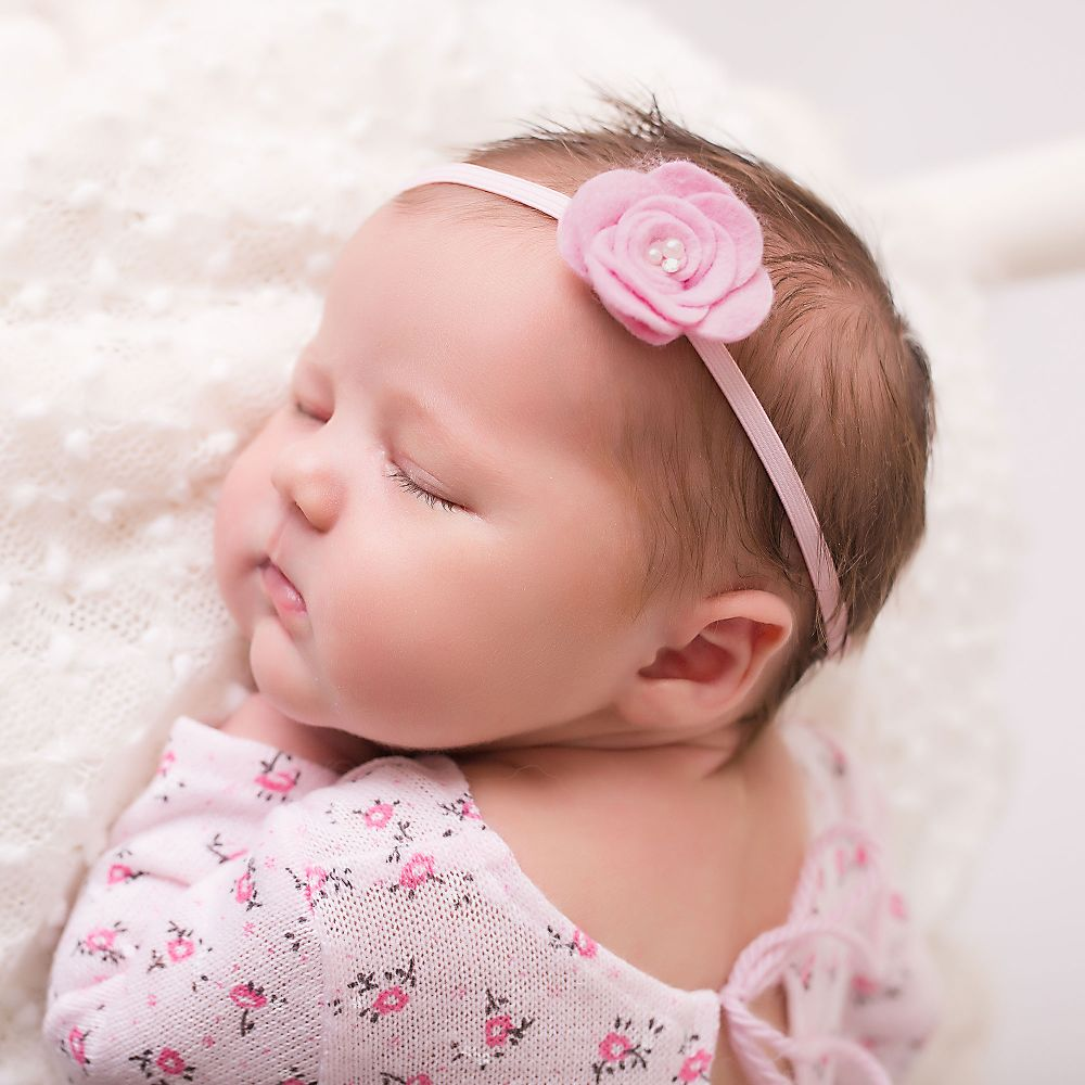 baby girls pink headband