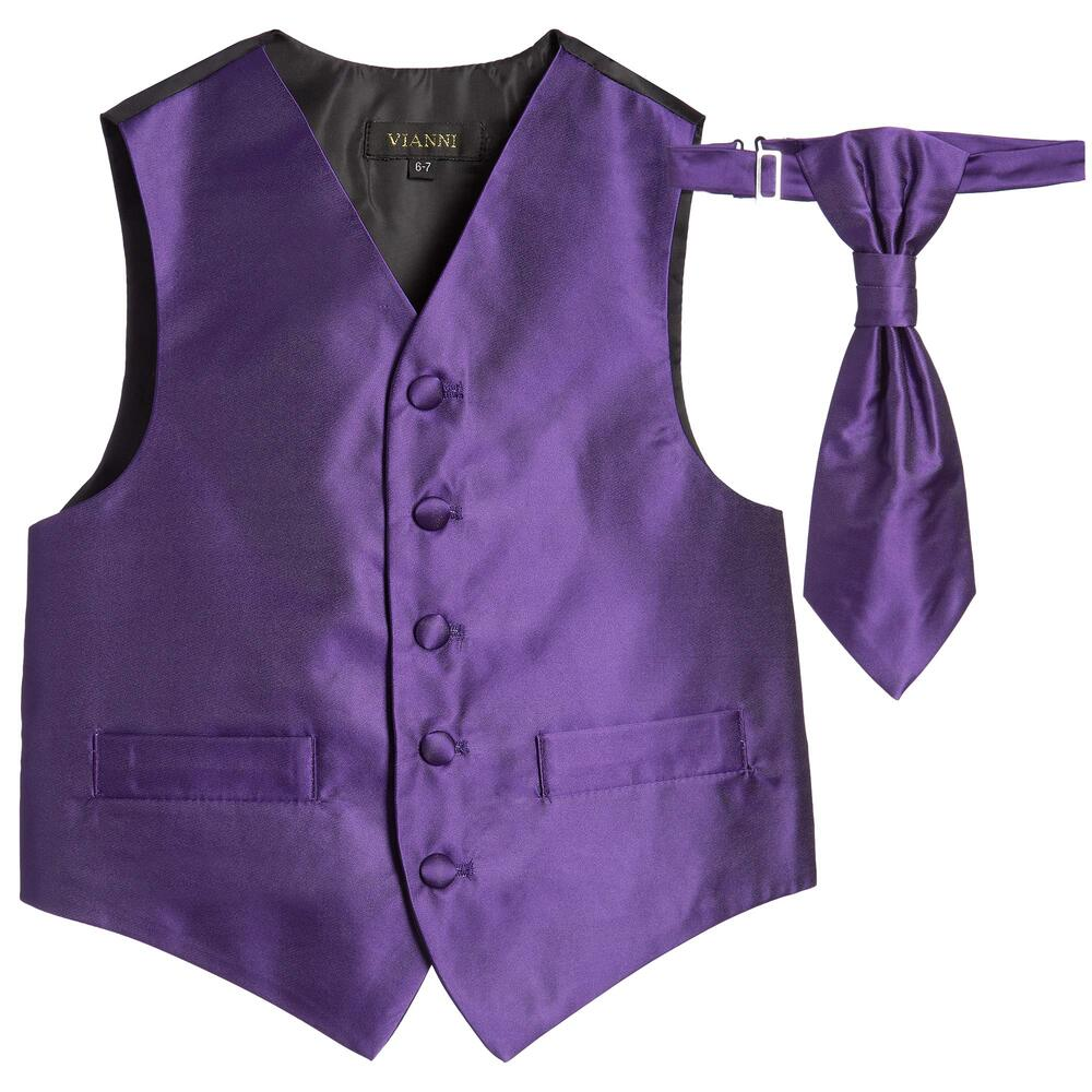 Romano Vianni  Boys Dark Purple Waistcoat  Adjustable