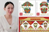 Lin Yan from Fuzhou, Fujian is the designer of this year's Australia Post Stamps for the Year of the Rat.
