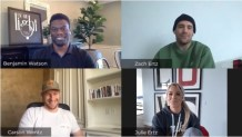 """WATCH: Zach Ertz Shares How He's Grown Spiritually Since Coming to Faith in Christ Three Years Ago in """"Huddle Up!"""" Episode Along With Julie Ertz, Benjamin Watson, and Carson Wentz"""