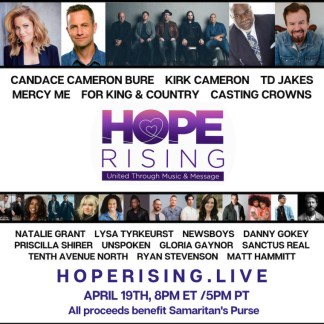 WATCH: Hope Rising Benefit Concert Raises Over .6 Million for Samaritan's Purse as It Helps Serve on the Frontlines of Global Coronavirus Crisis