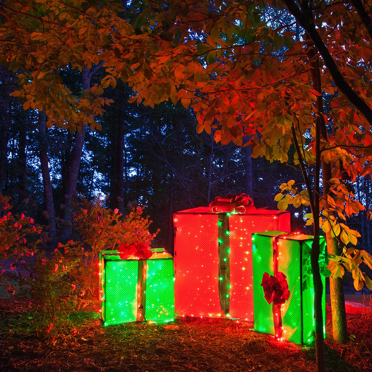 how to make lighted outdoor christmas decorations