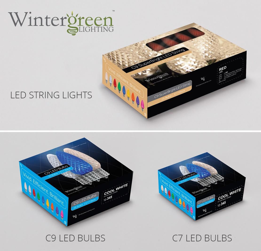 medium resolution of led christmas light strings and bulbs from wintergreen lighting