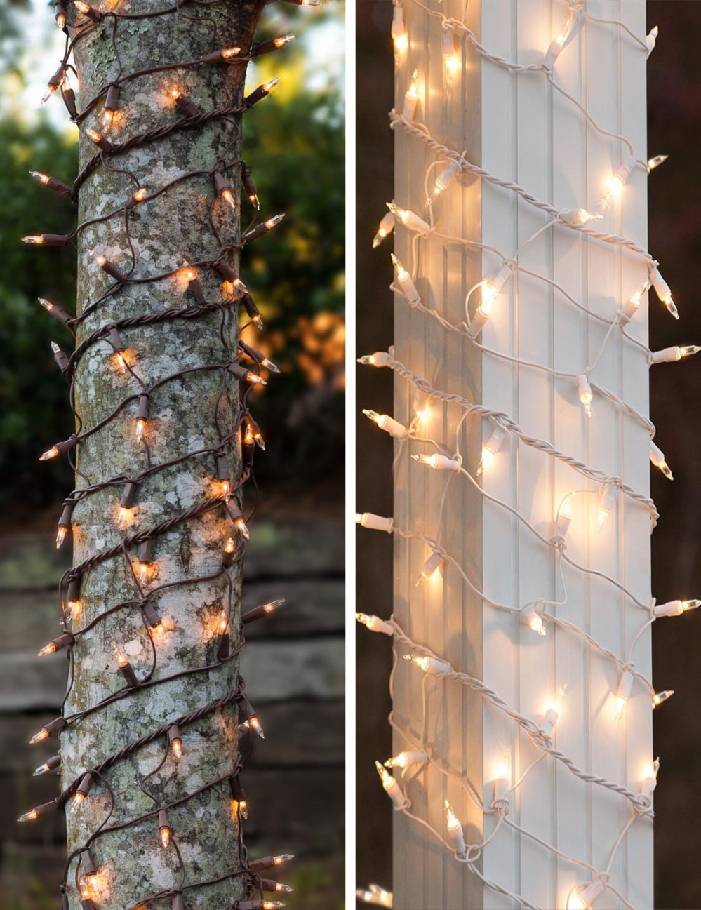 medium resolution of christmas light wraps for tree trunks and columns