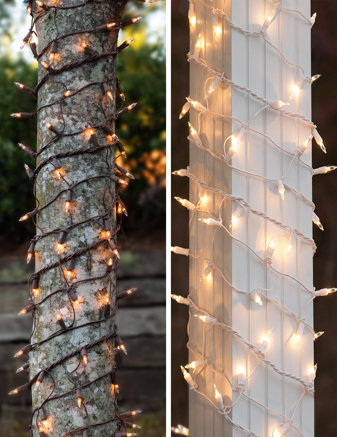 hight resolution of christmas light wraps for tree trunks and columns