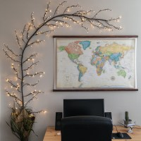 Diy Lighted Branch Wall Art - Diy (Do It Your Self)