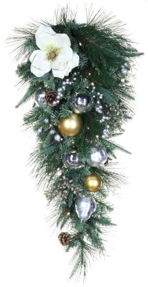 Decorative Garland - Aspen Silver Battery Operated Led