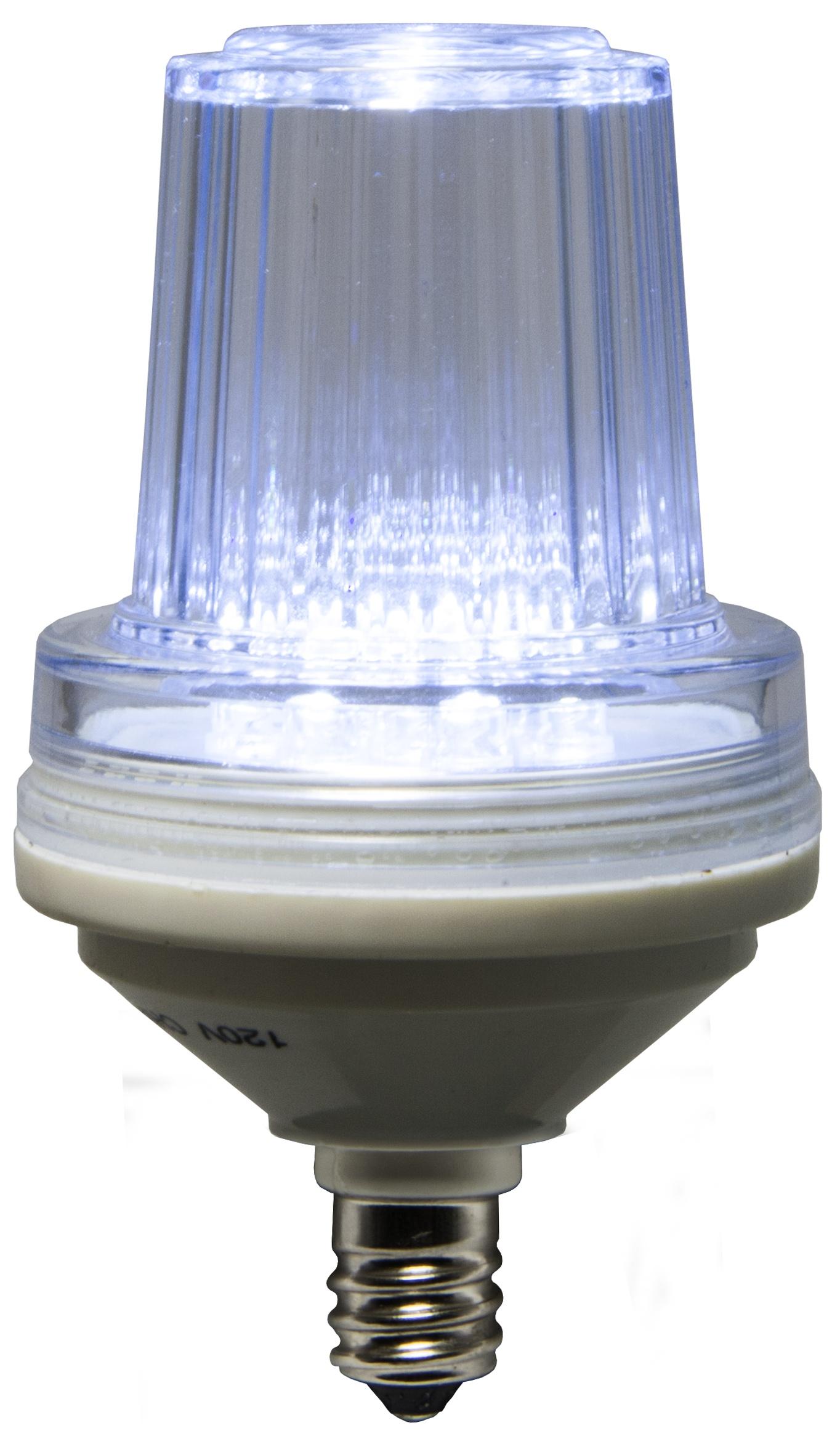 C7 Strobe / Commercial Twinkle Cool White LED Christmas Bulbs