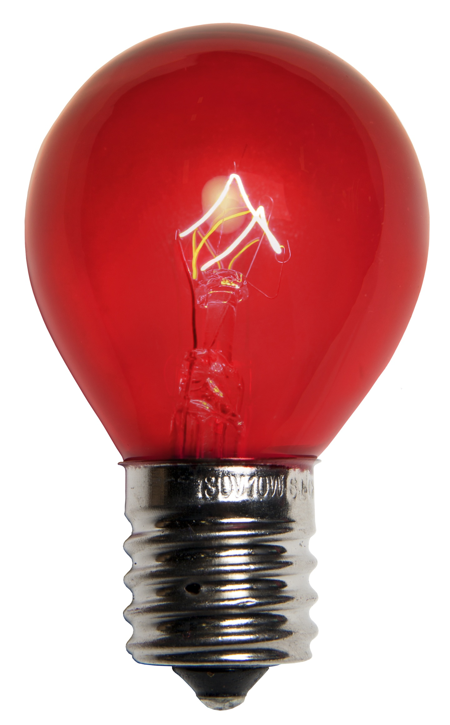E17 Patio And Party Light Bulbs S11 Transparent Red 10