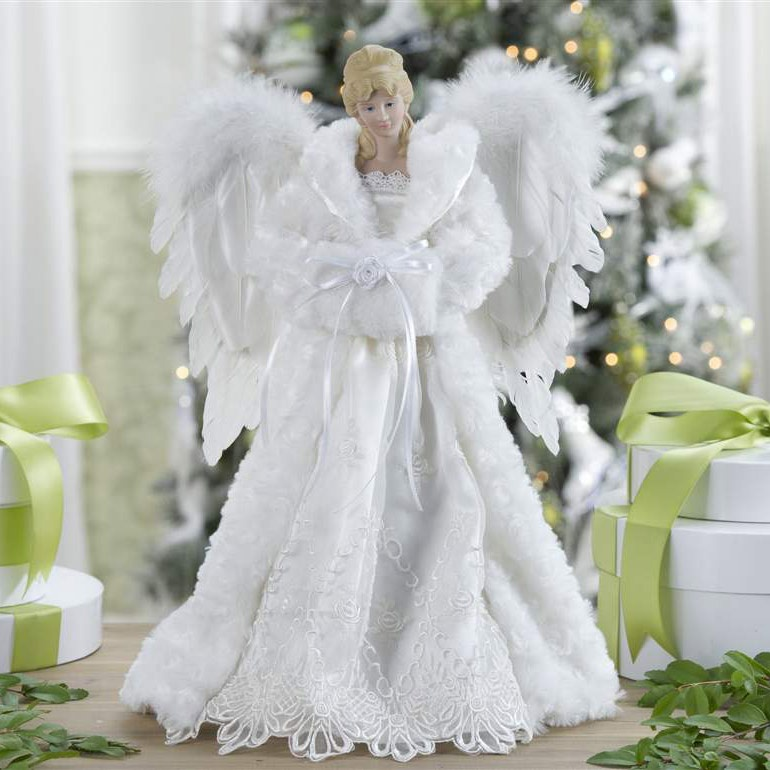 Christmas Decorations  165 White Angel Tree Topper