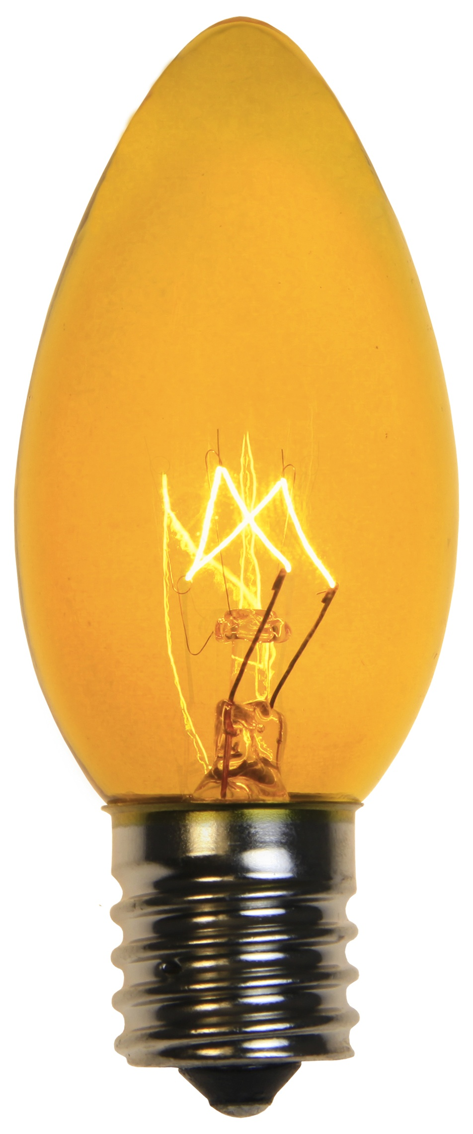 C9 Christmas Light Bulb C9 Yellow Christmas Light Bulbs Transparent