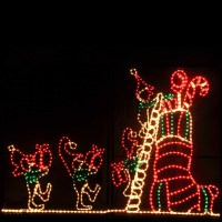 Outdoor Decoration - Animated Elf and Stocking Outdoor ...