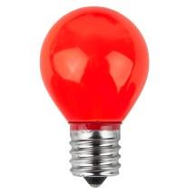 E17 Patio And Party Light Bulbs - S11 Opaque Red 10 Watt