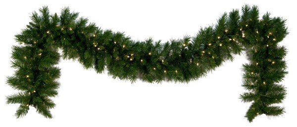 Lighted Christmas Garland - Dunhill Fir Prelit Led Warm White Lights